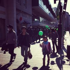 Green balloon.  Yokohama, Japan.