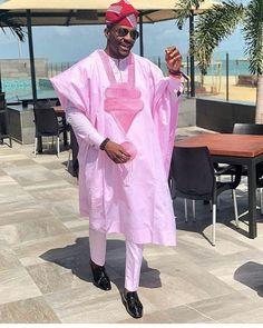 Ochuko African agbada set, matching shirt and pant/African clothing / African men clothing / wedding suit/groom suit/dashiki Nigerian Men Fashion, African Men Fashion, African Wear, African Attire, African Dress, Ankara Fashion, African Style, Womens Fashion, Fashion Dresses