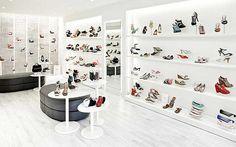 Discover ideas about boutique decor Shoe Store Design, Shoe Shop, Boutique Decor, Shoe Boutique, Shoe Display, Display Design, Shop Interior Design, Retail Design, Design Shop