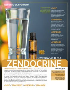 doTERRA Zendocrine essential oil blend. So many benefits to detox and cleanse. Safe for every day. http://oilpoweredmom.com/