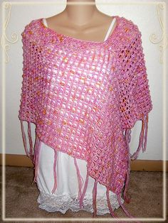 Ravelry: Great with Jeans Poncho pattern by Jennifer Cirka Jaybird Designs