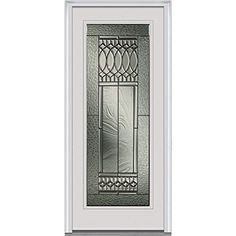 Heirloom Master Decorative Glass 1/4 Arch Lite 4 Panel Finished Mahogany  Fiberglass Prehung Front Door | Home, Arches And Home Depot