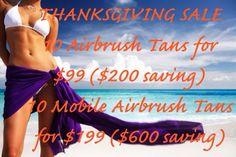 THANKSGIVING SALE!!! Boise, ID Touch of Sun - Mobile Airbrush Tanning LLC