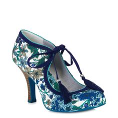 Ruby Shoo Willow Blue Floral Shoes – Pretty Kitty Fashion
