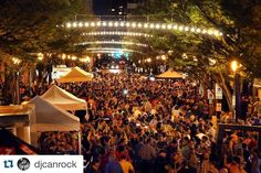 Don't worry if you missed our celebration for #LightsOverGranby ! They're on every night. Come to #DowntownNorfolk and check them out.  #Repost @djcanrock with @repostapp.  Norfolk.  You're beautiful.  #lightsovergranby #firstfridays #nfkallday #thosearchwaystho by downtown757