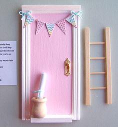 Fairy Door, Tooth Fairy Door, Fairy Door Kit, Baby Shower Gift, Learning toy by ParkerJshop on Etsy