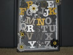 I made another sampler with new letters at Michaels.