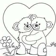 dibujos del día del amor y la amistad para colorear