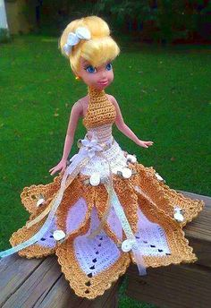 Foto del tejido a crochet de Mirledis, Vestido Muñeca