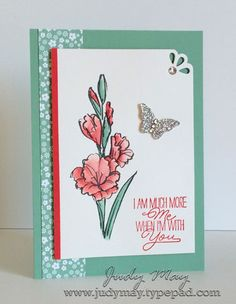 Stampin Up Gift of Love stamp set, Card by Judy May, Canterbury, Melbourne Australia. Stampin Up classes available.