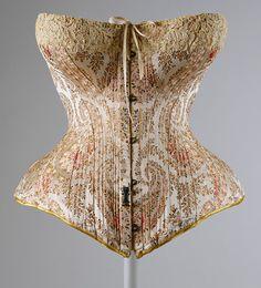 Maison Leoty corset, Met, c. 1891.  historicalfashion