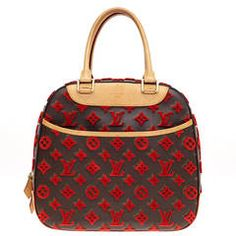 Louis Vuitton Deauville Cube Bag Limited Edition Monogram Canvas Tuffetage