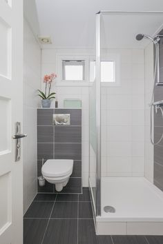 Bathroom Remodel Colors Budget 22 New Ideas Small Shower Room, Small Bathroom With Shower, Small Showers, Tiny Bathrooms, Bathroom Design Small, Bathroom Interior Design, Modern Bathroom, Small Shower Remodel, Small Toilet