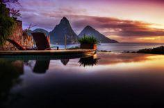 When the sun sets... Jade Mountain, St. Lucia