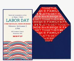 Send a premium Labor Day invitation from Evite