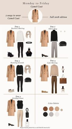 5 ways of styling camel coat for fall winter Camel coat outfit winter styl. - 5 ways of styling camel coat for fall winter Camel coat outfit winter style. Camel coat casual and classy style. Fall Winter outfits for Fashion Trends Work outfits Winter Coat Outfits, Fall Outfits For Work, Winter Fashion Outfits, Autumn Fashion, Winter Coats, Winter Office Outfit, Winter Travel Outfit, Classic Fashion Outfits, 2018 Winter Fashion Trends
