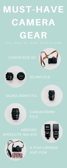 Must Have Camera Gear || Best Camera Gear || Photography Equipment || Lenses || Canon || Photographer