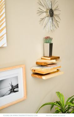 Upcycled Modern Shelf {DIY} - The Pretty Blog