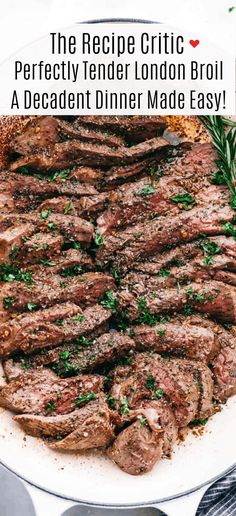London Broil is a perfectly tender piece of meat after being marinated in a liquid mixture withspices and seasoning then broiled in the oven. Adecadent dinner made easy!