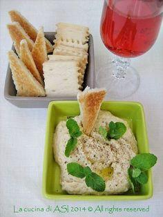 PATE DI CECI E ROBIOLA Ricetta antipasto vegetariano