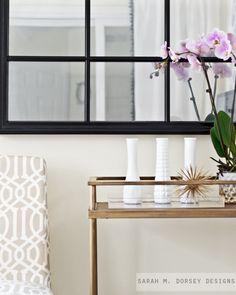 sarah m. dorsey designs: Pottery Barn Inspired Mirror   Krylon Looking Glass Spray Paint