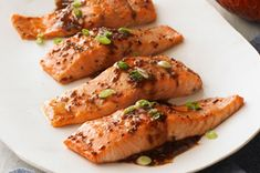 Maple-Balsamic Salmon Fillets #recipe: a wonderful weeknight dinner with just five ingredients.