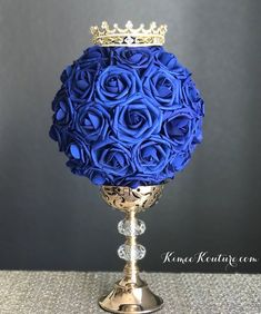 Clearheaded restructured quinceanera party planning ideas Sign me up Quince Centerpieces, Crown Centerpiece, Quince Decorations, Quinceanera Decorations, Birthday Party Centerpieces, Quinceanera Party, Birthday Decorations, Prince Birthday Party, King Birthday