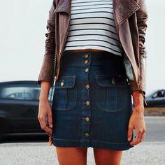 Saia jeans. | 15 tendências de moda que provam que 2015 foi nos anos 90