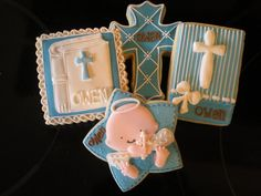 Christening Cookies sugar by julie Baptism Cookies, Baby Cookies, Baby Shower Cookies, Best Sugar Cookies, Star Cookies, Cut Out Cookies, Christening Cake Boy, Star Cookie Cutter, Gourmet Cookies