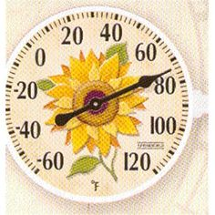 Taylor 90176 6 in Diameter Outdoor Thermometer With Sunflower Inset Design RMG4H4E54 E4R46T32592277 *** Want additional info? Click on the image.