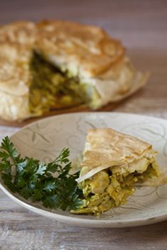 Chicken, Artichoke and Feta Pie via Crush Magazine Online