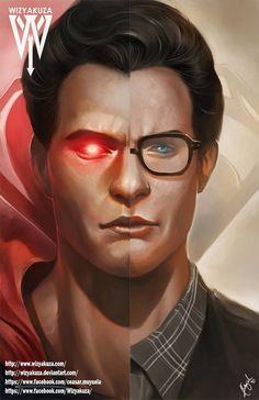 Split Comic Book Personalities Fused In Fan Art