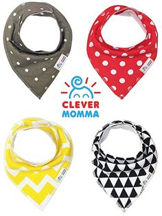 Amazon.com: Baby Bandana Bibs for Drooling and Teething, Unisex Value Packs for Boys and Girls, Organic Cotton with Snaps, Hypoallergenic, Soft and Absorbent, Burp Cloths Perfect for Spit Up, From Clever Momma: Baby Bandana Bib, Teething, Burp Cloths, Bibs, Boy Or Girl, Organic Cotton, Clever, Unisex, Amazon
