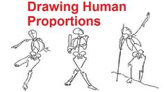 Figure Drawing Lessons 2/8 - Drawing Human Proportions Using Stick Figures - YouTube