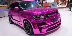 Metallic pink range rover!