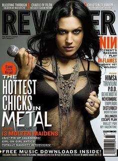 """Christina Scabbia from Lacuna Coil in Revolver magazines """"Hottest Chicks in Metal"""" edition"""