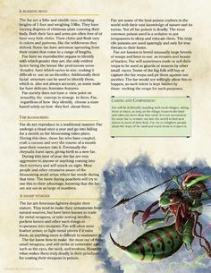 Fae Race by Dungeons And Dragons Books, Dnd Dragons, Dungeons And Dragons Homebrew, D D Races, Rpg World, Dnd Classes, Dungeon Master's Guide, Dnd 5e Homebrew, Dragon Rpg