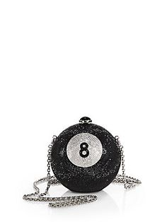 Judith Leiber - Eight-Ball Swarovski-Crystal Clutch - Saks Fifth Avenue Mobile from Saks. Saved to It's In The Bag. Unique Handbags, Unique Purses, Unique Bags, Purses And Handbags, Judith Leiber, Novelty Bags, Novelty Handbags, Bridal Stores, Luxury Bags