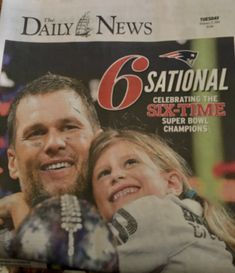 Brady and daughter after winning Super Bowl 2019 - Mentol.Club Pin Everything New England Patriots Football, Boston Sports, Tom Brady, Super Bowl, Champion, Daughter, News, Club, Supper Bowl