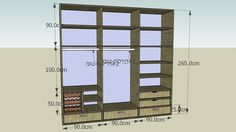 Large preview of 3D Model of Bedroom closet