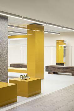 Bar Interior, Interior Design, Long Bench, Brand Store, Shop Interiors, Display Shelves, Retail Design, Oslo, Furniture
