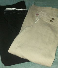 2 pairs womens sm dress pants