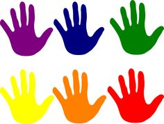 2 Hands Template Clipart - Clipart Kid