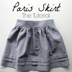 "Tuto jupe ""Paris"" - Paris skirt tutorial by ""Nothing too fancy"" Sewing For Kids, Free Sewing, Sewing Patterns Free, Sewing Diy, Free Pattern, Sewing Hacks, Sewing Tutorials, Sewing Projects, Dress Tutorials"