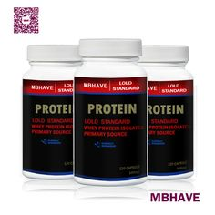 3 Bottles Whey Protein Powder 360 Capsules 550mg //Price: $68.99 & FREE Shipping //     #coupon