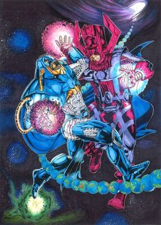 GALACTUS VS ANTI MONITER