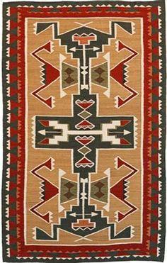 Southwest Looms - Southwest Looms Dreamcatcher Teec Nos Pos N-5B Tan Area Rug #37315