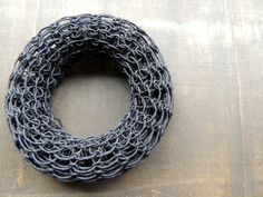 Blackpaperyarn knitted bracelet by zsazsazsu