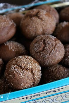 Molasses Cookie Balls - Ww - 2 Cookies For 1 Point! Ww Desserts, Cookie Desserts, Cookie Recipes, Delicious Desserts, Dessert Recipes, Yummy Food, Molasses Cookies, No Calorie Foods, Brunch