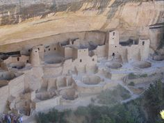 The Anastasi dwellings at Mesa Verde National Park, Colorado. Amazing what they were able to build and the treacherous climbs they had to negotiate to get in & out of there.
